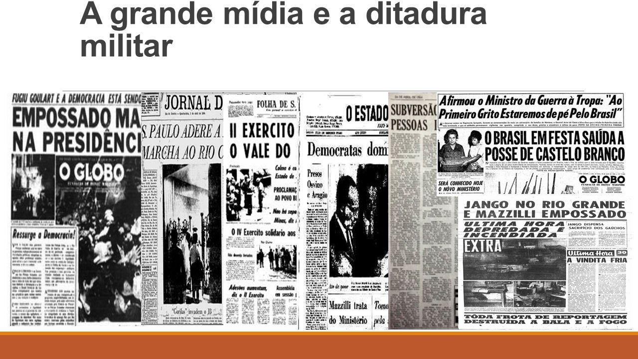 As manchetes do golpe militar de 1964 Ressurge a Democracia.