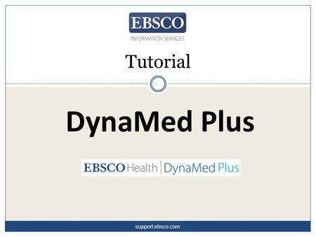 Tutorial DynaMed Plus support.ebsco.com.