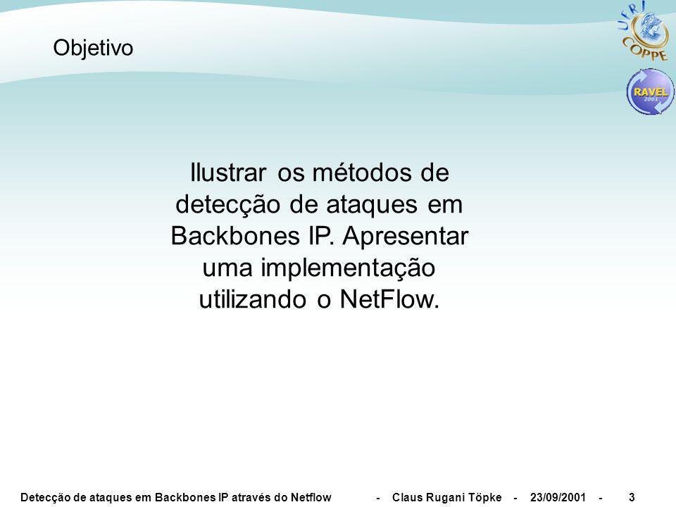 Detecção de ataques em Backbones IP através do Netflow - Claus Rugani Töpke - 23/09/2001 -4 Definições (Backbone)