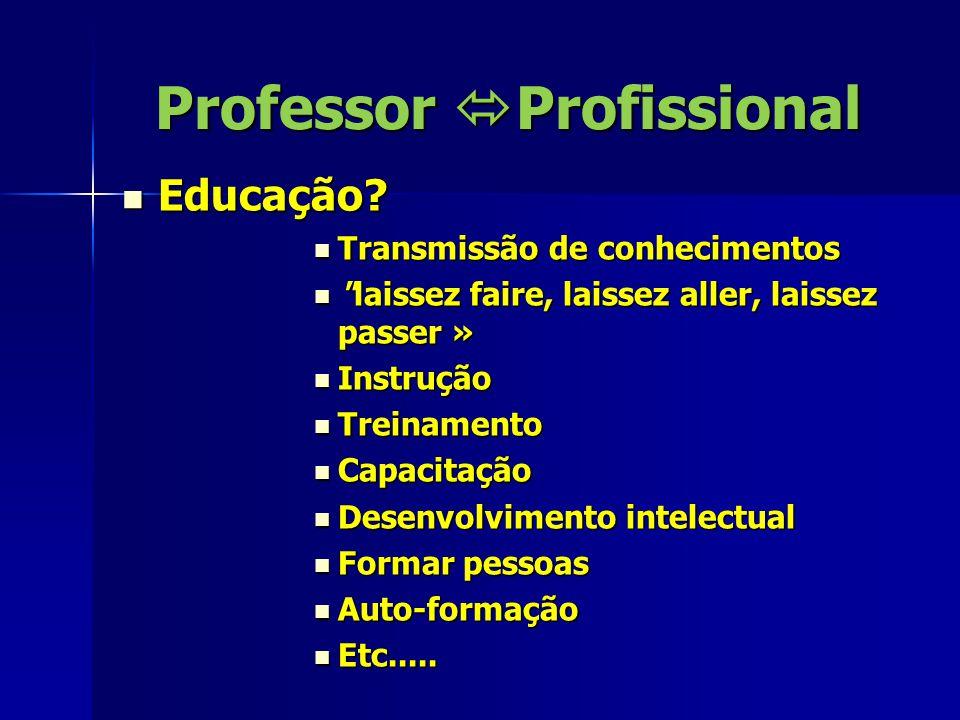Professor  Profissional Sociedade: Cultura, Filosofia de vida, Política governamental.......