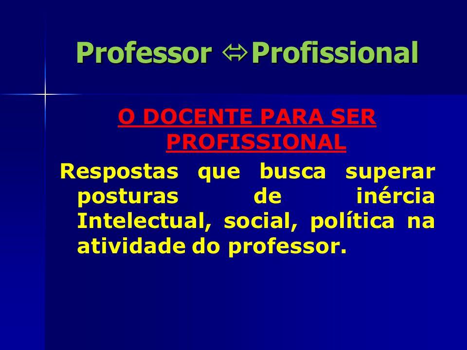 Professor  Profissional Poder Status, hierarquia e existência de um grêmio para associações.