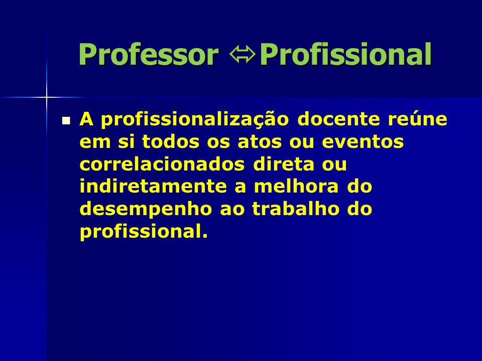 Professor  Profissional É um processo socializador de construção de características da profissão, a partir da cooperação entre os indivíduos e o progresso social.
