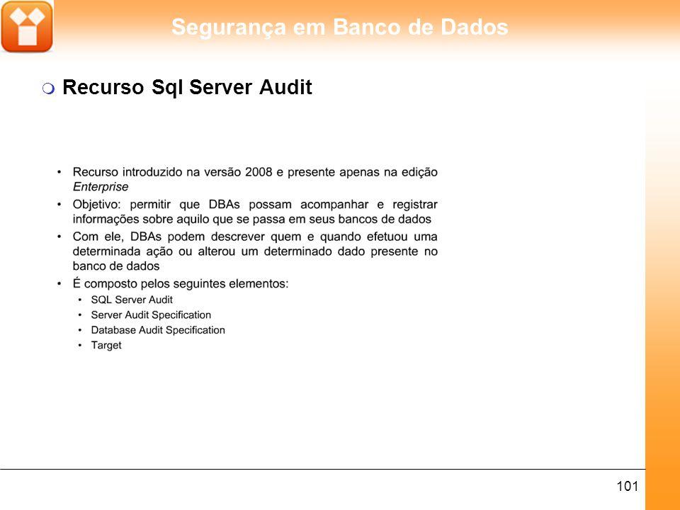 Segurança em Banco de Dados 102