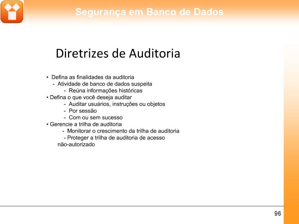 Segurança em Banco de Dados 97