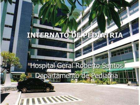INTERNATO DE PEDIATRIA