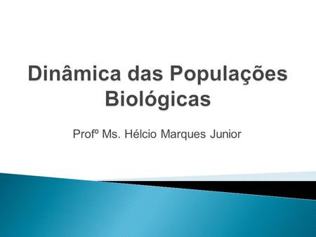 Profº Ms. Hélcio Marques Junior. 2