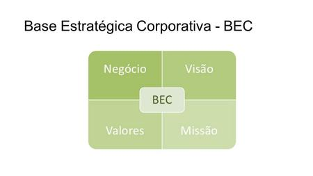 Base Estratégica Corporativa - BEC