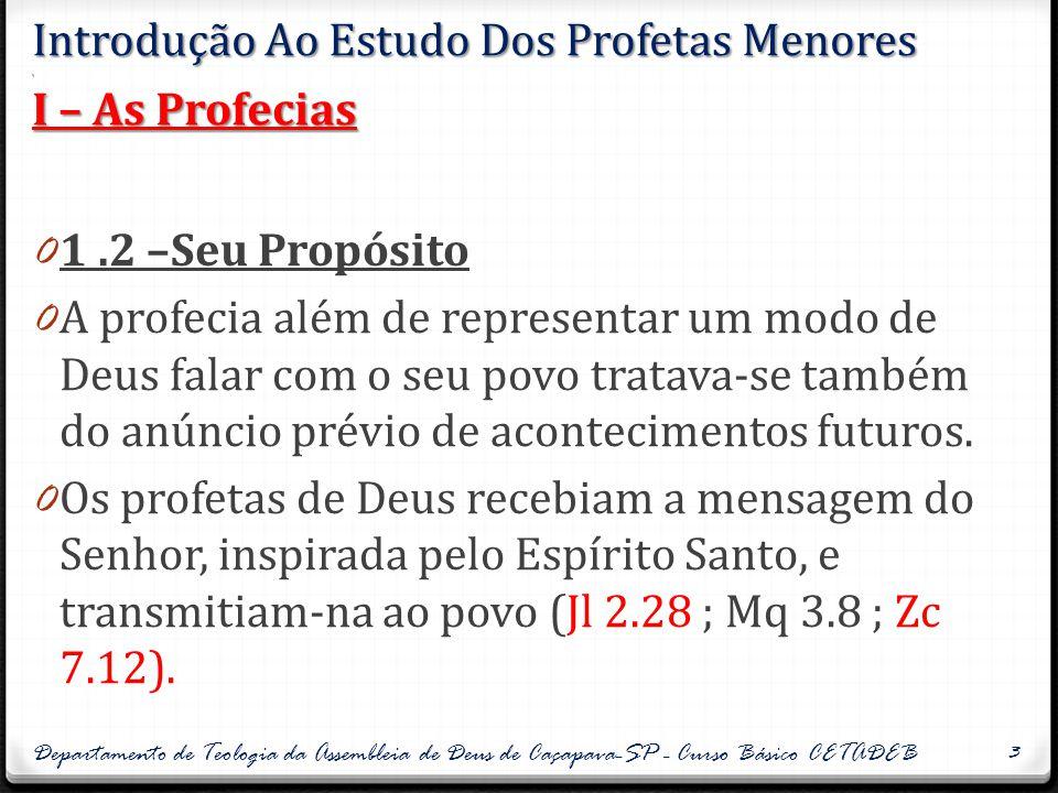 II.1 – Os profetas 0 2.