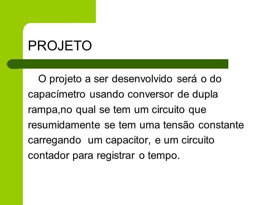 PARTES DO PROJETO O projeto a ser desenvolvidos, tem como principais partes; Circuito de carga Implementado através de um Amp.