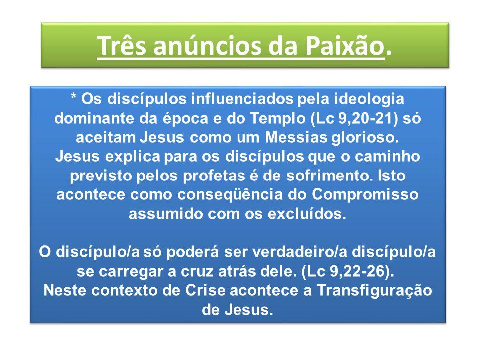 A Transfiguração de Jesus.Lucas 9, 28: O Momento da Crise.