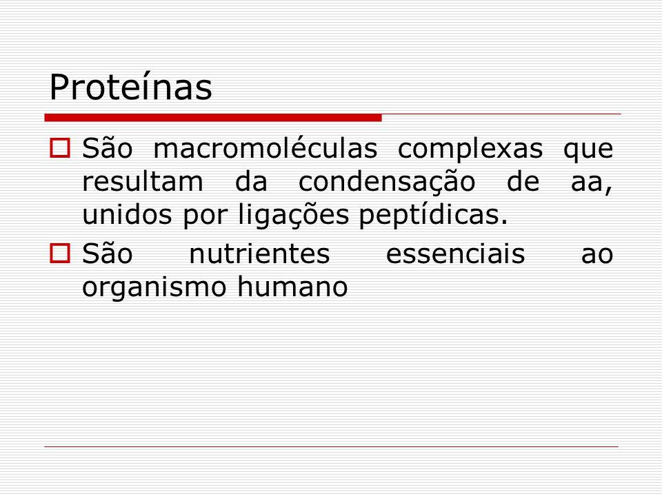 Propriedades  Hidrólise: Formando aa livres  Solubilidade: variável, dependendo da cadeia lateral dos aa.