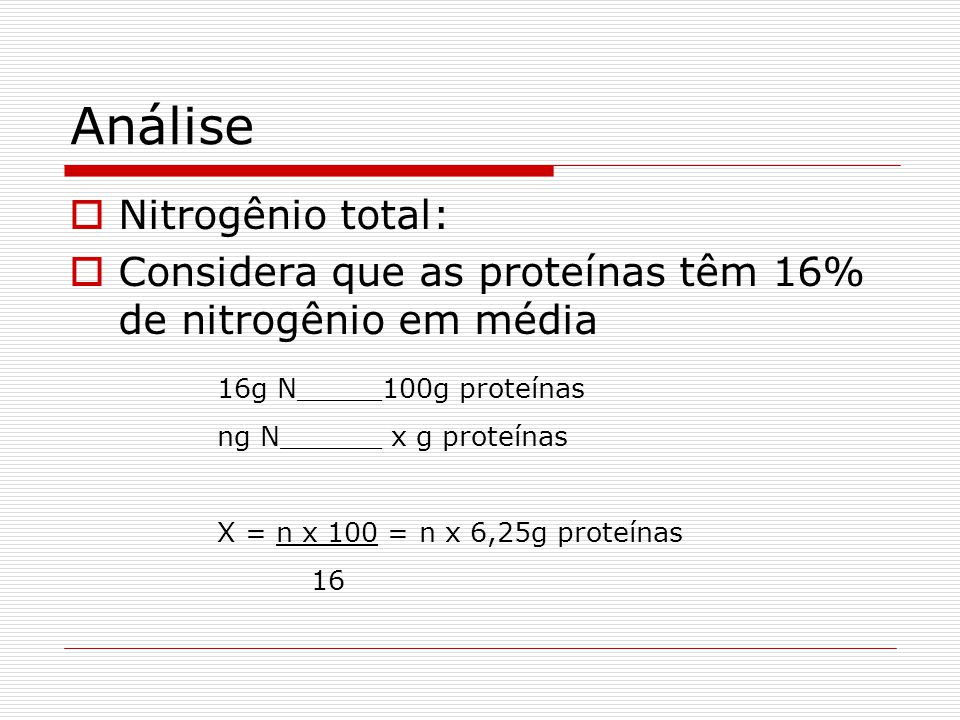 Método de Kjeldahl  Determina o N protéico e não-protéico  Aquecimento da amostra com H 2 SO 4 para digestão até que o C e o H sejam oxidados.