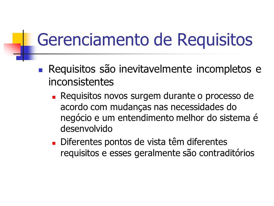 Rastreamento Responsável por dependências entre requisitos, suas origens e projeto do sistema Rastreamento de Origem Associação entre requisitos e stakeholders que propuseram tais requisitos