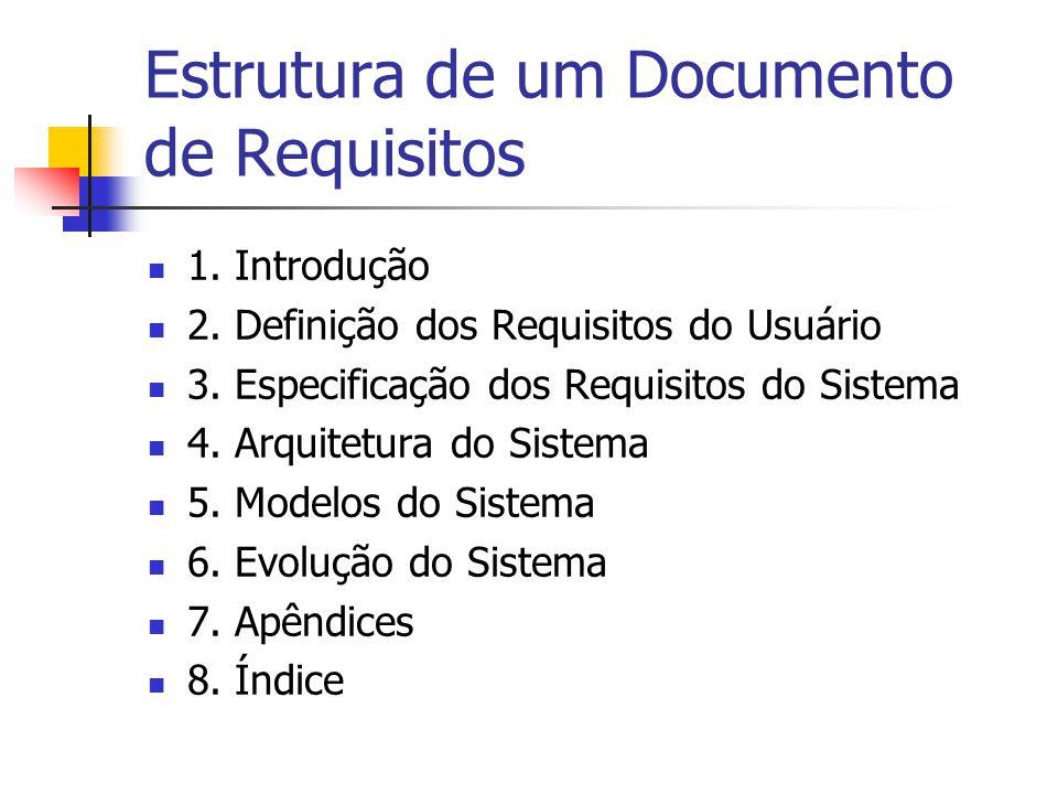 Documento de Requisitos Fonte: IEEE/ANSI (830-1998) 1.