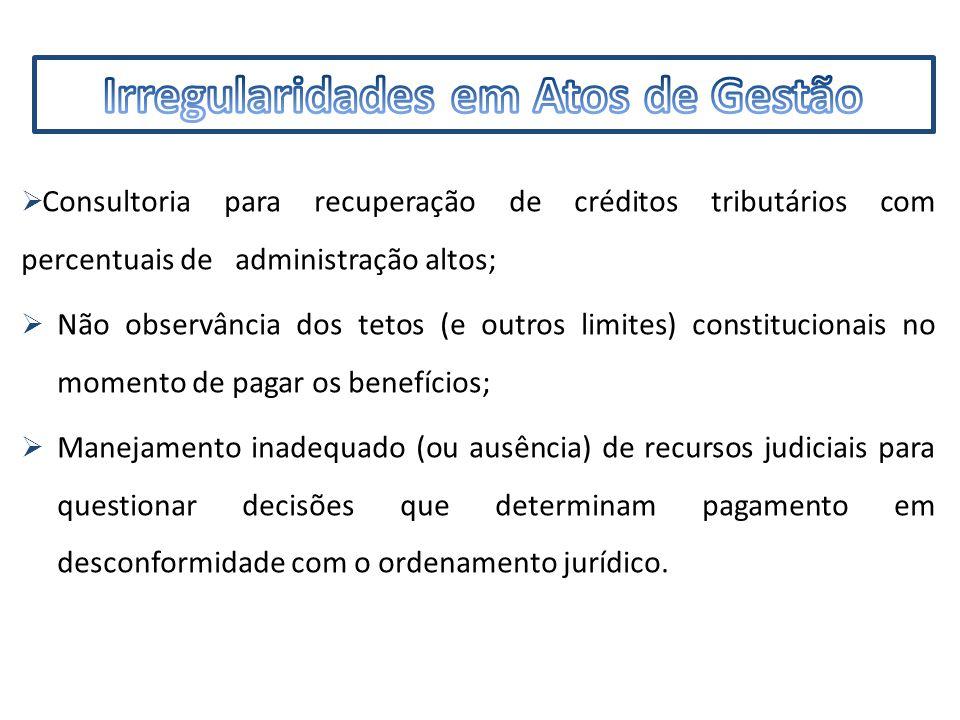 IMF  Problemas na documentação e de formalidades nos autos do processo;  Falta de publicação de atos;  Ausência de controle nas admissões dos servidores nomeados que não tomaram posse, bem como dos exonerados;  Equívoco nos cálculos da média.