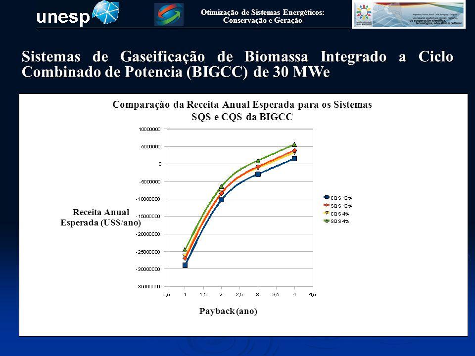 Otimização de Sistemas Energéticos: Conservação e Geração Sistemas de Gaseificação de Biomassa Integrado a Ciclo de cogeração de pequeno porte (15 kWe) Gaseificador Tipo Downdraft de simples estagio, 25 kg/h de Biomassa Motor Gerador Compacto 5 kWe Filtro de manga Trocador de Calor Agua-Gás
