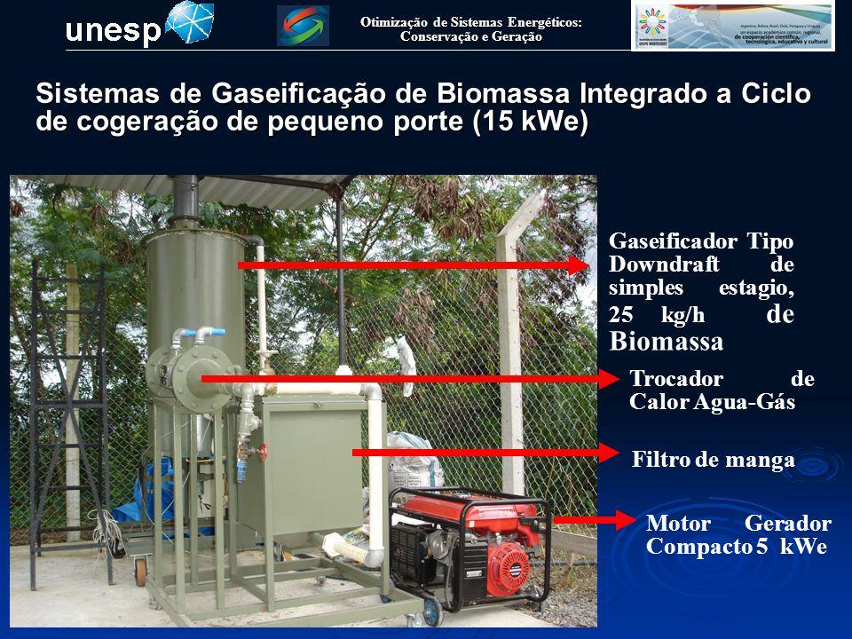 Otimização de Sistemas Energéticos: Conservação e Geração Cogerador Compacto Sistemas de Gaseificação de Biomassa Integrado a Ciclo de cogeração de pequeno porte (15 kWe)