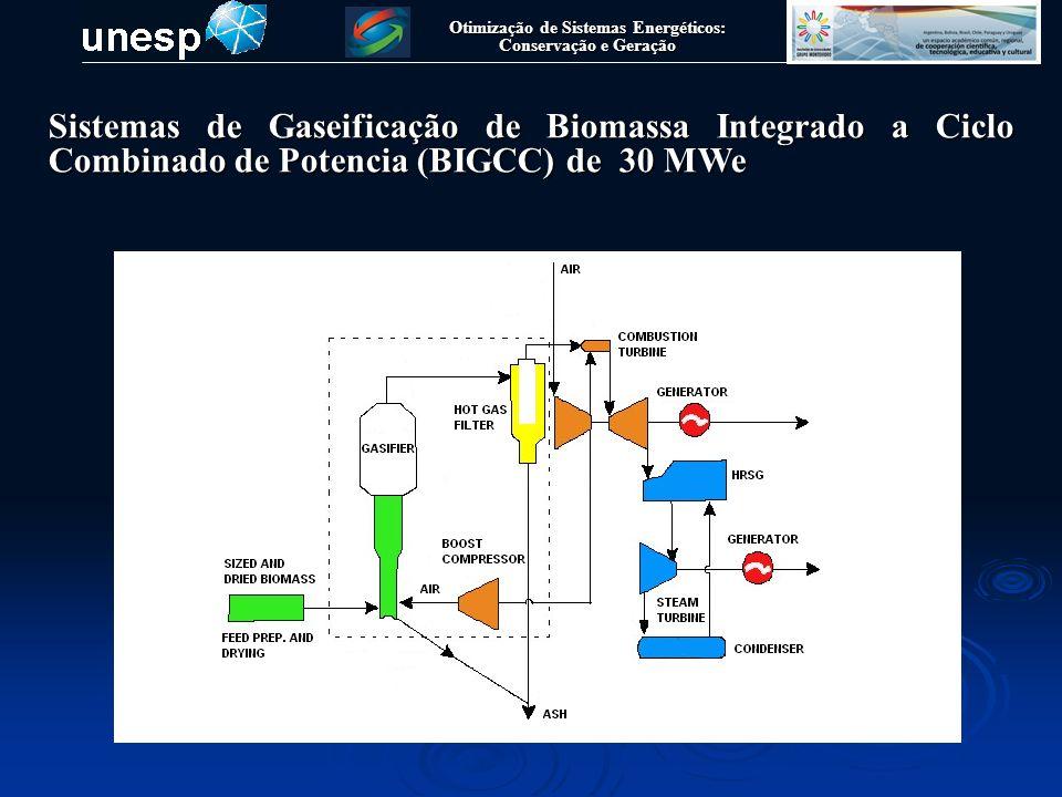 Otimização de Sistemas Energéticos: Conservação e Geração Sistemas de Gaseificação de Biomassa Integrado a Ciclo Combinado de Potencia (BIGCC) de 30 MWe Dados da Turbina de Vapor Alstom SQS CQS