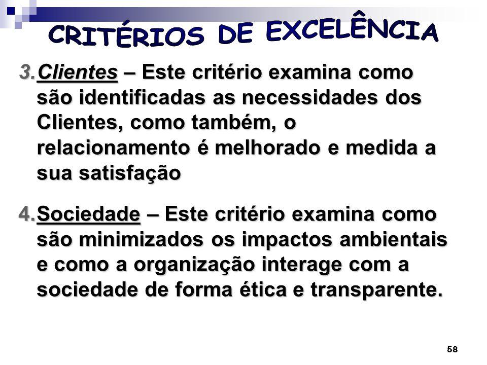 59 5.Informações e Conhecimento – Este critério examina a gestão das informações, bem como a gestão dos ativos intangíveis (a marca, os sistemas e os processos).