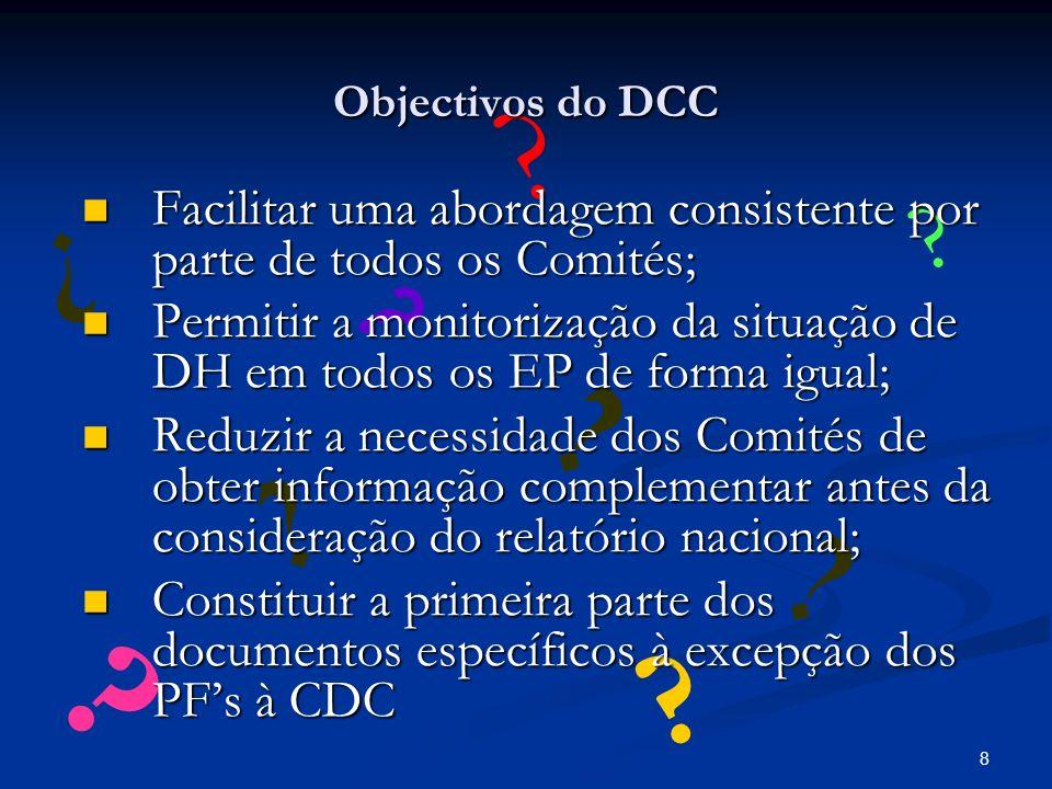 8 .Objectivos do DCC .