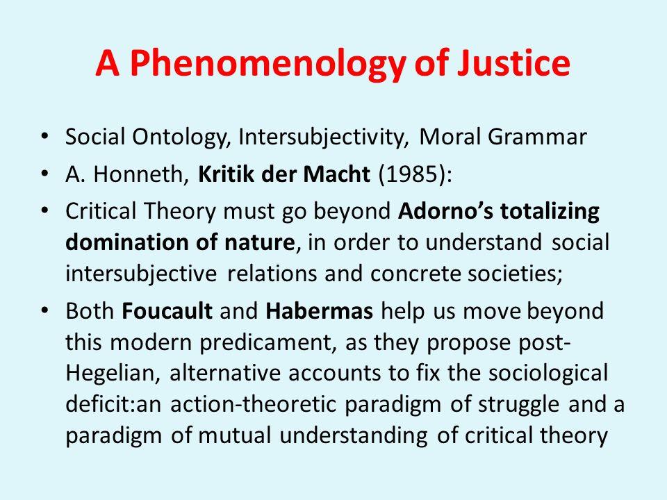A Phenomenology of Justice: Ontology, Intersubjectivity, Language www.nythamar.com
