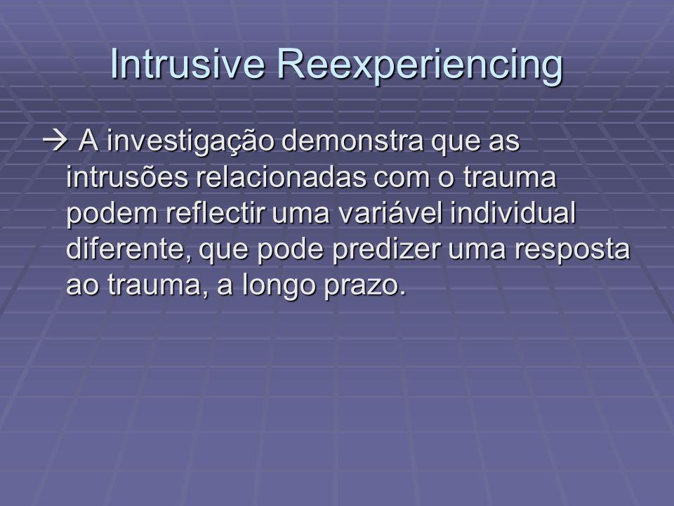 Referência Bibliográfica: Falsetti, S.A. (2008). Intrusive Reexperiencing.
