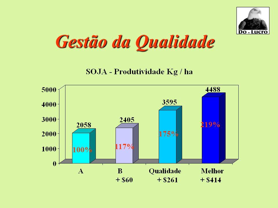 Gestão da Qualidade 100% 117% 175% 219%