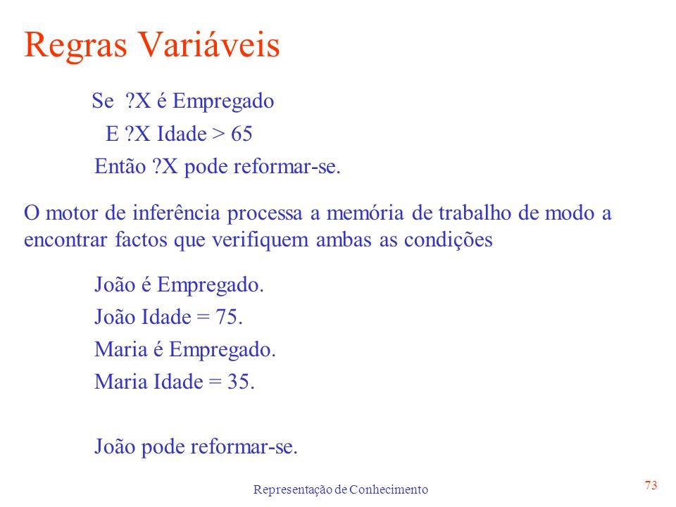 Representação de Conhecimento 74 Regras Causais vs.