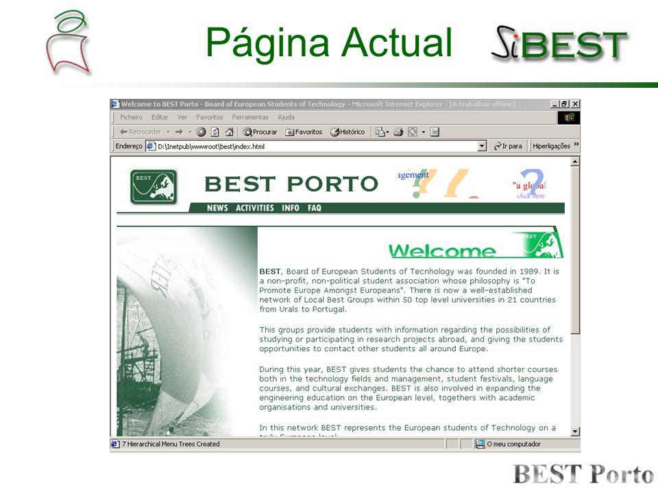 Área Privada A que se destina a parte privada do site; Definição dos conteúdos do site; Serviços disponíveis; Definição de funcionalidades; Layout da página.