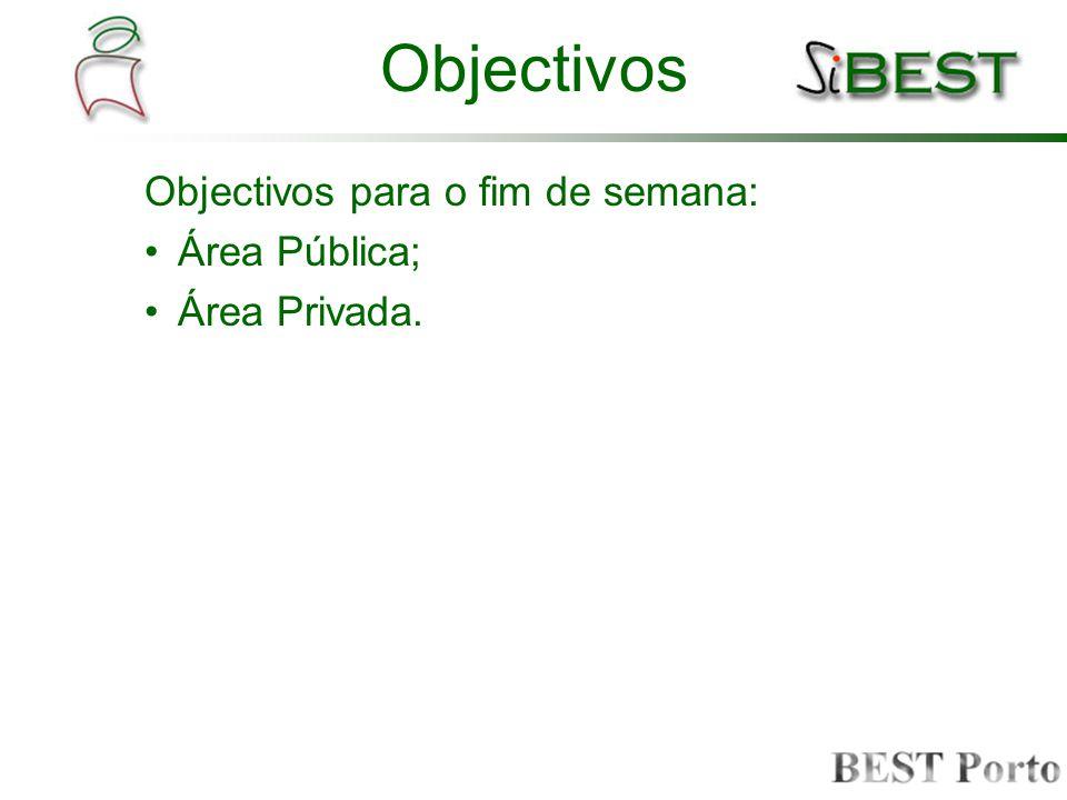 Conteúdos; serviços; Definição de funcionalidades dos serviços; Definição de um possível layout de página para a área privada.