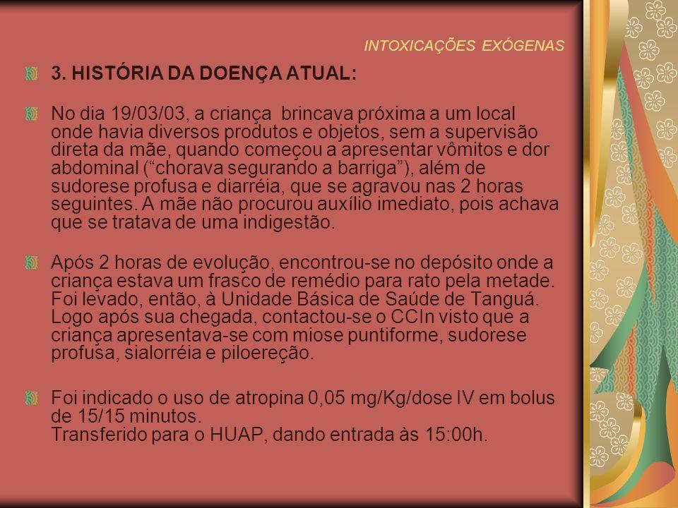 INTOXICAÇÕES EXÓGENAS 13.