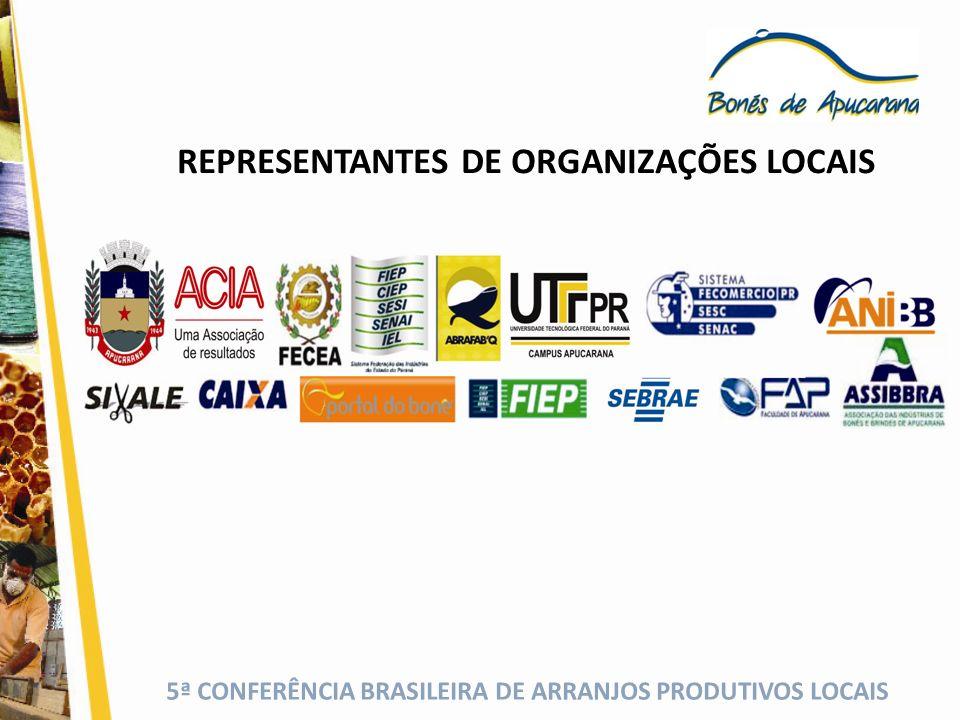 5ª CONFERÊNCIA BRASILEIRA DE ARRANJOS PRODUTIVOS LOCAIS A GOVERNANÇA SE ESTRUTURA NA REALIZAÇÃO DAS AÇÕES POR GRUPOS TEMÁTICOS