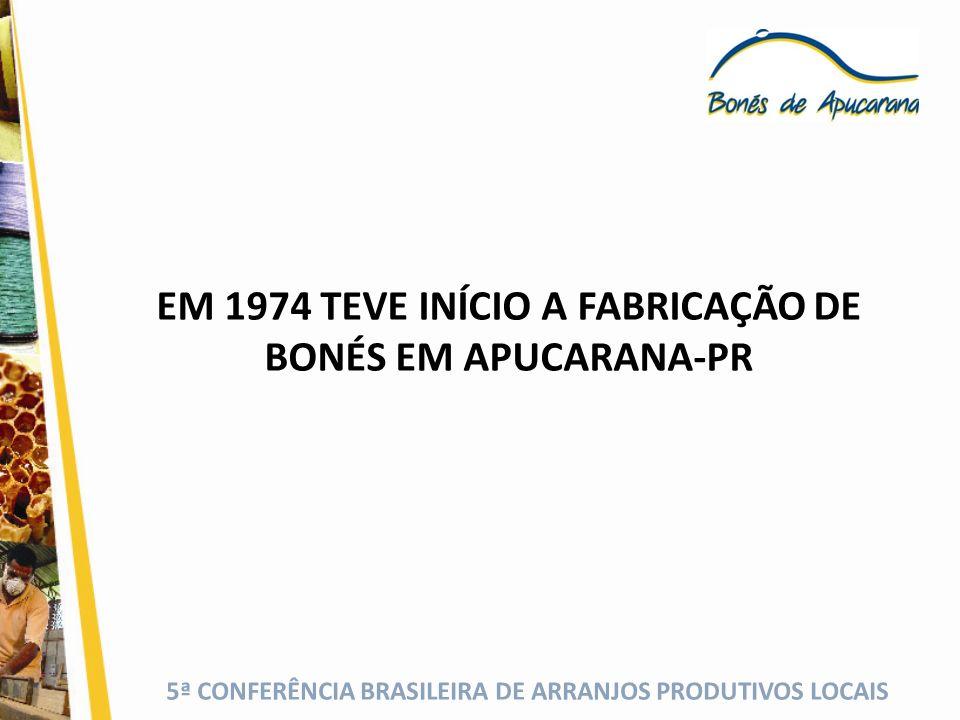 5ª CONFERÊNCIA BRASILEIRA DE ARRANJOS PRODUTIVOS LOCAIS A PRODUÇÃO ARTESANAL Bandanas Tiaras Bonés com Aba de Papelão