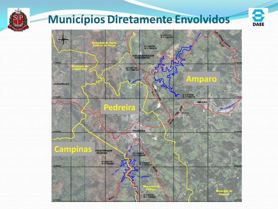 Barragem Pedreira: Área de Abrangência dos Estudos Ambientais ADA: 441,25 ha AID: 3.456,30 ha