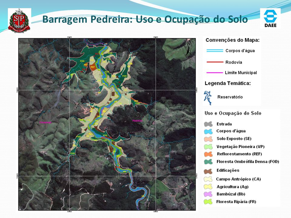 Barragem Duas Pontes: Área de Abrangência dos Estudos Ambientais ADA: 775,03 ha AID : 5.964,50 ha