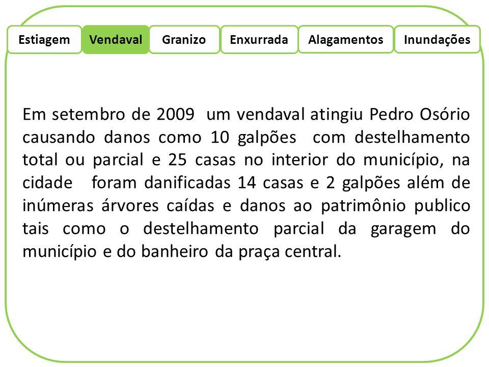 EstiagemEnxurradaVendaval Alagamentos Granizo Inundações Local: Candiota RS