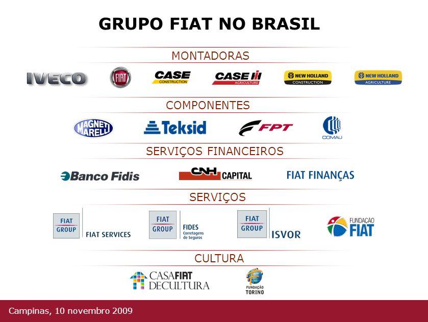 CULTURA SERVIÇOS SERVIÇOS FINANCEIROS COMPONENTES MONTADORAS GRUPO FIAT NO BRASIL Campinas, 10 novembro 2009