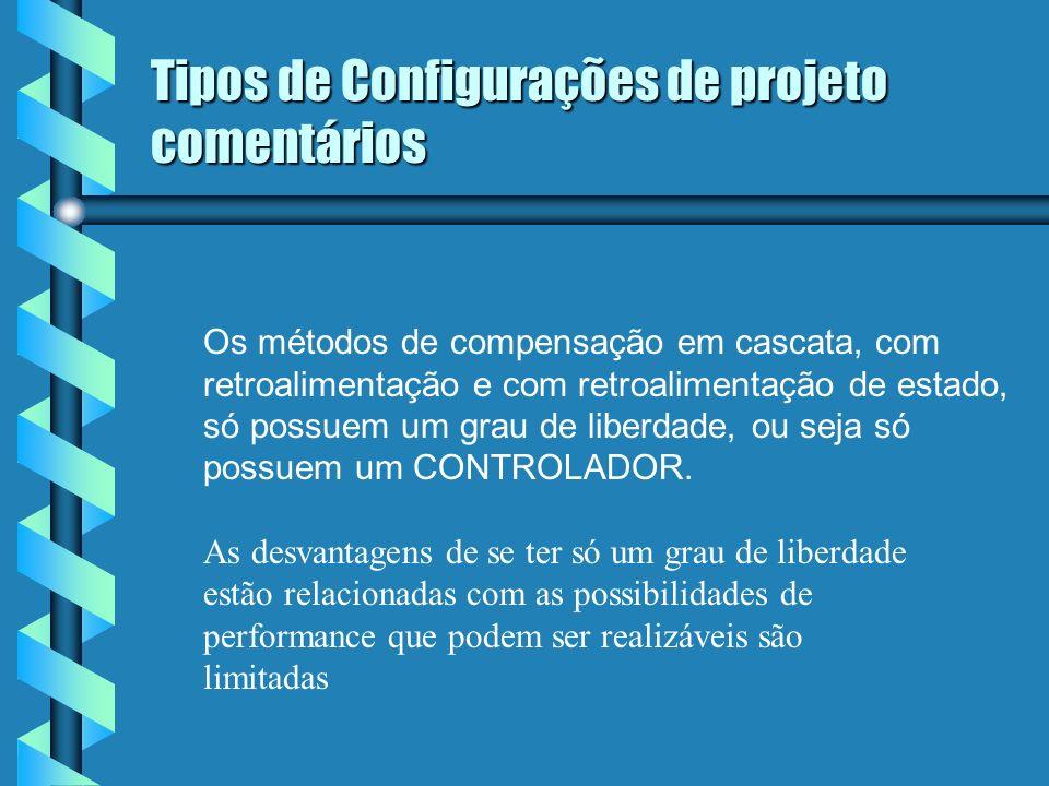 Tipos de Configurações de projeto comentários ( cont).