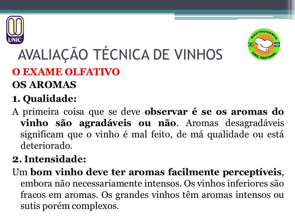 AVALIAÇÃO TÉCNICA DE VINHOS O EXAME OLFATIVO 3.