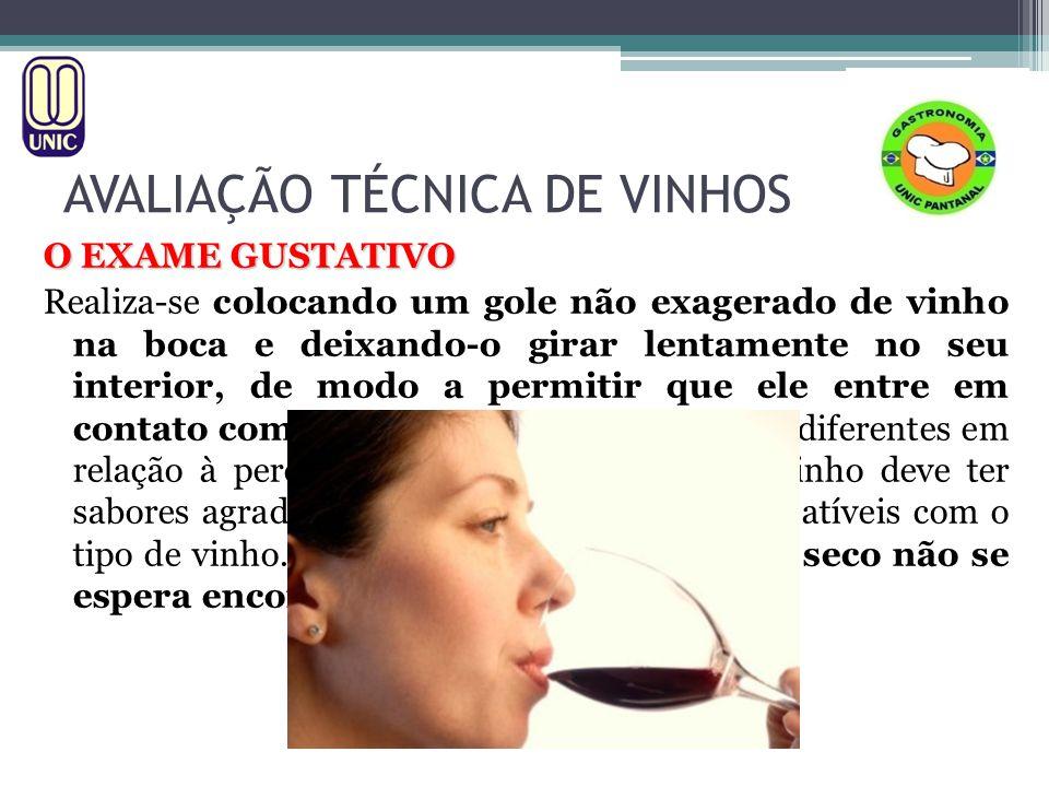 AVALIAÇÃO TÉCNICA DE VINHOS O EXAME GUSTATIVO 1.