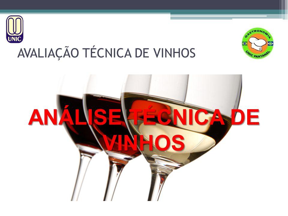 AVALIAÇÃO TÉCNICA DE VINHOS ANÁLISE SENSORIAL DOS VINHOS INTENSIDADE OLFATIVA: todas as sensações olfativas que se percebem no vinho, independentemente da diferente composição, complexidade e evolução.