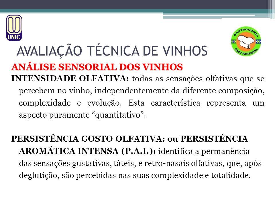 AVALIAÇÃO TÉCNICA DE VINHOS ANÁLISE SENSORIAL DOS VINHOS EFERVESCÊNCIA: fenômeno que se manifesta nos vinhos espumantes e frisantes, devido a presença de gás carbônico.
