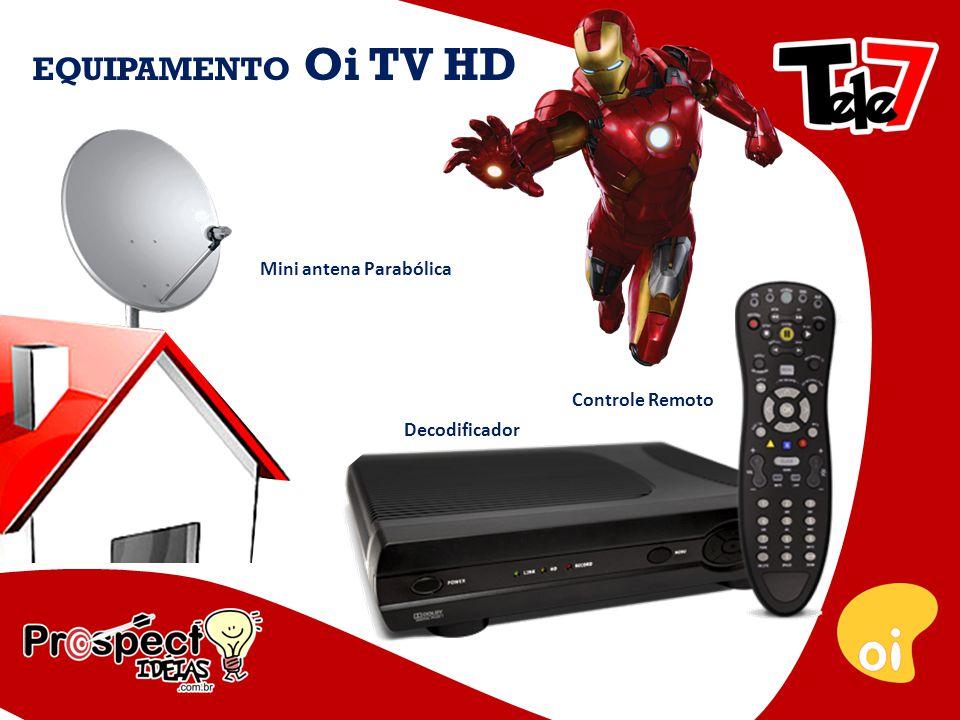 Decodificador EQUIPAMENTO Oi TV HD Controle Remoto Mini antena Parabólica