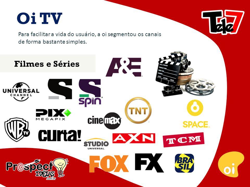 Oi TV Para facilitar a vida do usuário, a oi segmentou os canais de forma bastante simples.