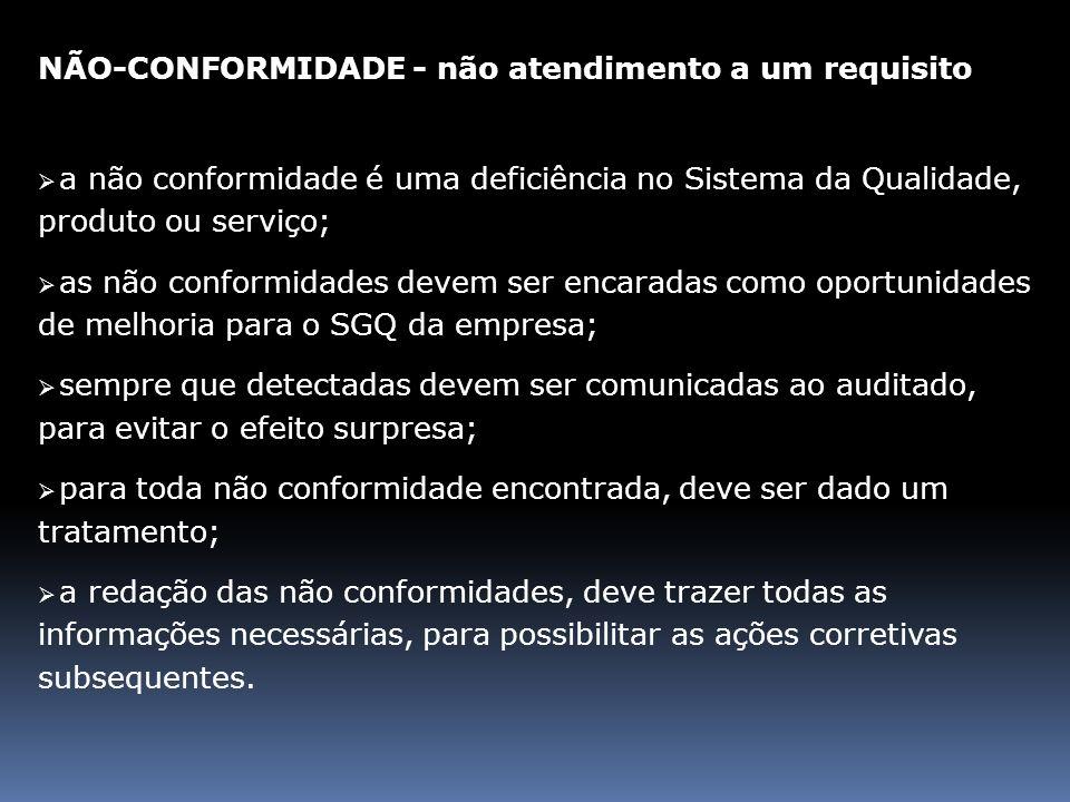 Na reunião entre auditores serão: lavradas as não conformidades; discutidos os pontos divergentes.
