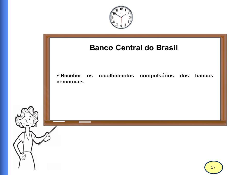 18 Banco Central do Brasil Realizar operações de redesconto e empréstimos de assistência à liquidez às instituições financeiras.
