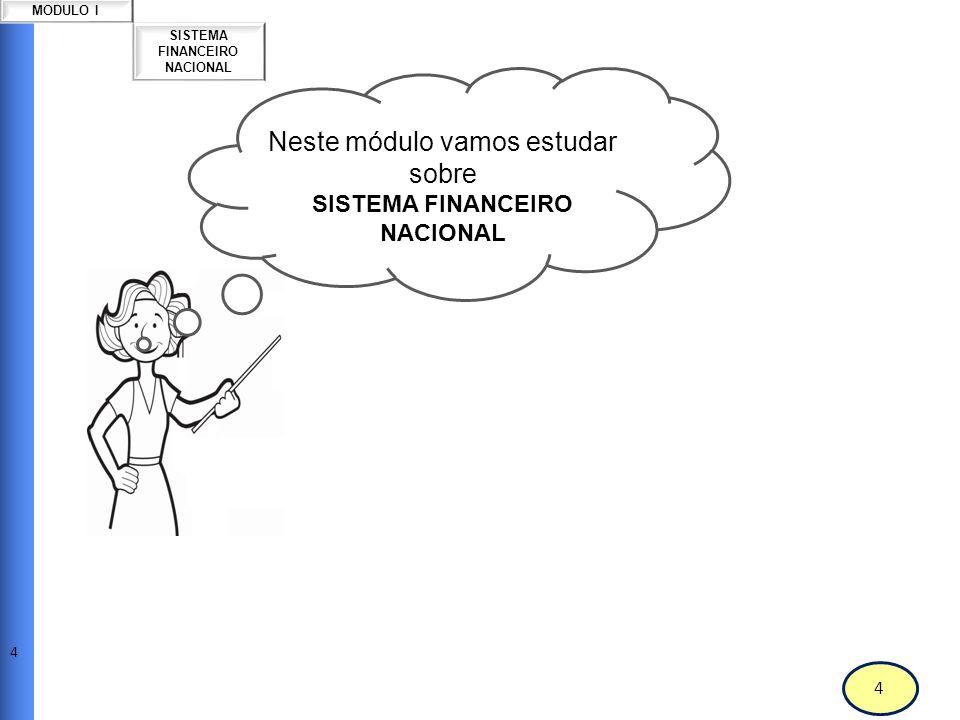 5 MODULO I Sistema Financeiro Nacional
