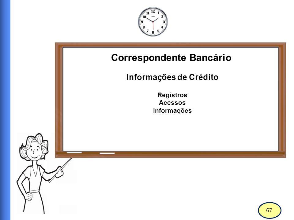 68 Correspondente Bancário Informações de Crédito Nos últimos 30 anos, as agências de crédito têm assumido um papel central na infraestrutura financeira das economias em todo o mundo.