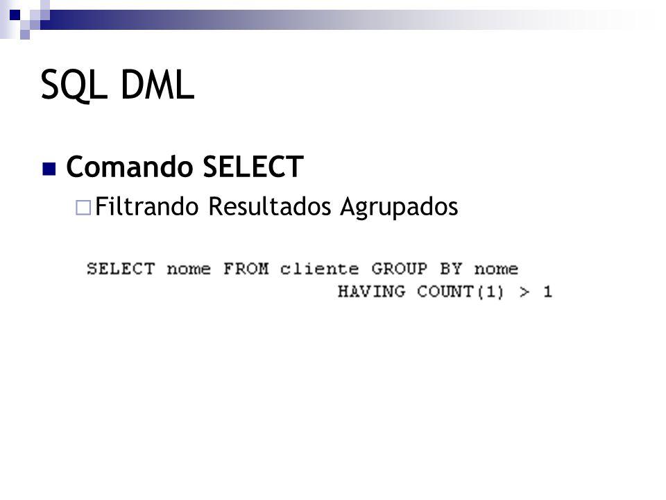 SQL DML Comando SELECT