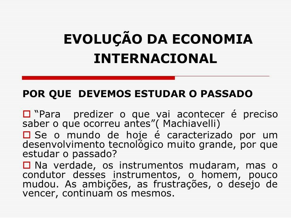 EVOLUÇÃO DA ECONOMIA INTERNACIONAL Aprendemos que a Economia é uma ciência social.